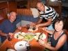 Herrliche Fischmahlzeit an Bord