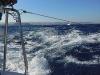 Überfahrt aufs Festland mit 40 Knoten Wind
